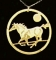 Wild Bryde Galloping Mustang Horse Necklace