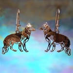 Wild Bryde German Shepherd Dog Earrings