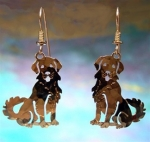 Wild Bryde Golden Retriever Dog Earrings
