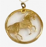Wild Bryde Hanovarian Horse Necklace