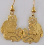 Wild Bryde Himalayan Cat Earrings