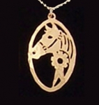 Wild Bryde Horse with Ribbon Necklace