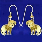 Wild Bryde Labrador Pup Dog Earrings