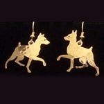 Wild Bryde Miniature Pinscher Dog Earrings