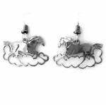 Wild Bryde Mustang in a Cloud Horse Earrings