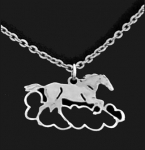 Wild Bryde Mustang in a Cloud Horse Necklace