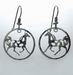 Wild Bryde Pinto Pal Circle Horse Earrings