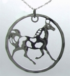 Wild Bryde Pinto Pal Circle Horse Necklace