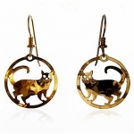 Wild Bryde Round Cat Earrings