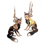 Wild Bryde Sitting Fox Earrings