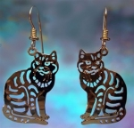 Wild Bryde Sitting Tabby Cat Earrings