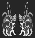Wild Bryde Strutting Siamese Cat Earrings