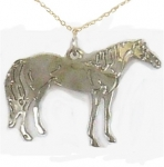 Wild Bryde Thoroughbred Horse Necklace