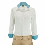 WOW Ladies Long Sleeve Show Shirt - Accents Collar & Cuffs