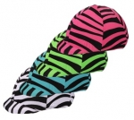 Zebra Spandex Helmet Cover Up